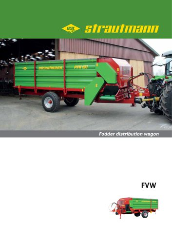 Fodder distribution wagon