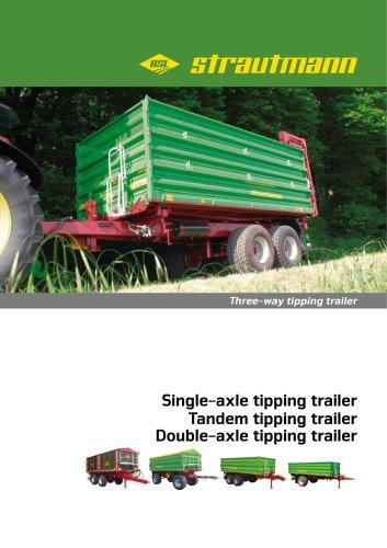 Three-way tipping trailer