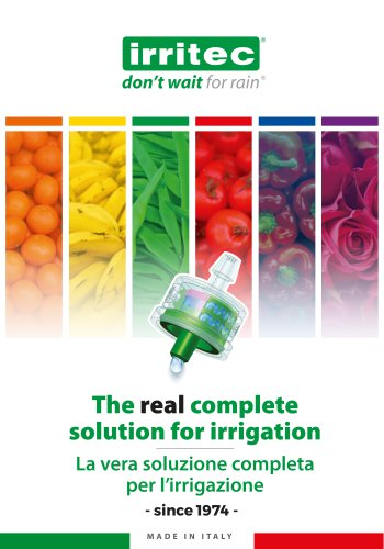 The real complete solution for Irrigation