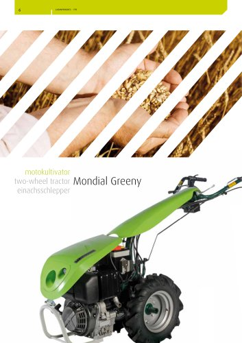 two-wheel tractor Mondial Greeny
