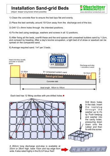 Installation Sand-grid Beds