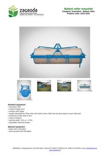 Ballast roller mounted