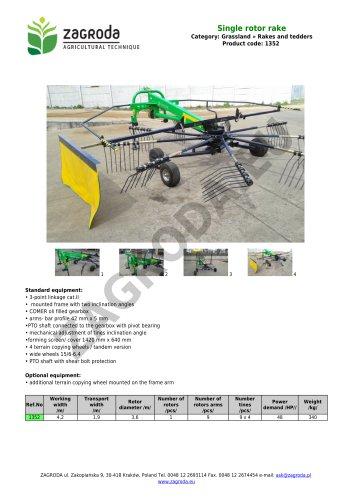 Single rotor rake