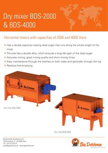 Dry mixer BDS-2000 & BDS-4000