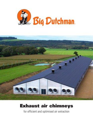 Exhaust air chimneys