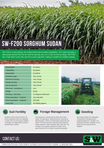 SW-F200 sorghum sudan