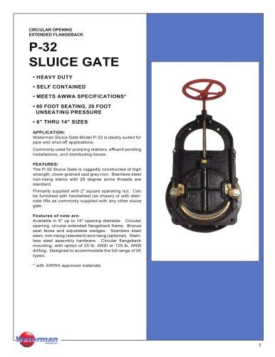 P-32 SLUICE GATE