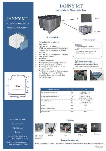Airtight and Watertight box