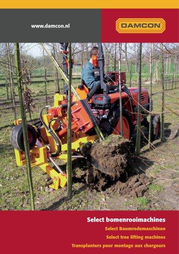 Damcon mounted tree lifting machines