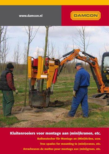 Excavator mounted