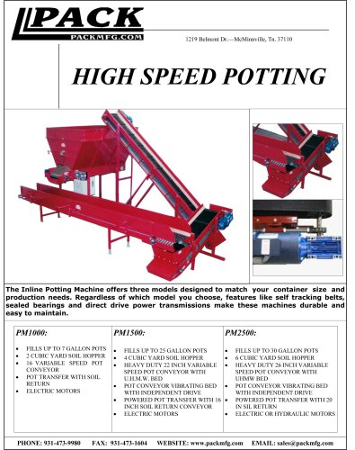 High Speed Potting
