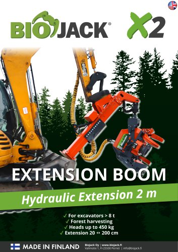 Brochure Biojack X2 extension boom EN