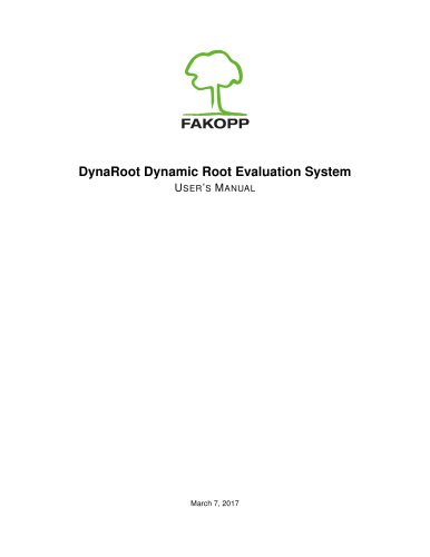 DynaRoot Dynamic Root Evaluation System