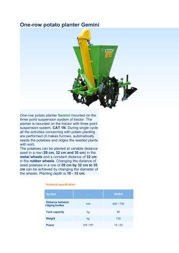 One-row potato planter Gemini