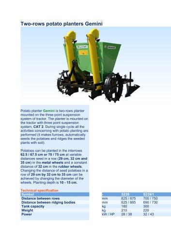Two-rows potato planters Gemini