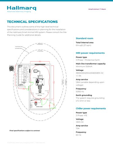 Small Animal Technical Specifications 2020