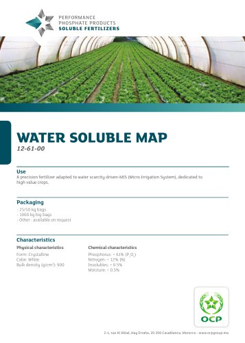 WATER SOLUBLE MAP
