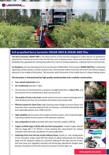 OSKAR 4WD Plus Blueberry Harvester