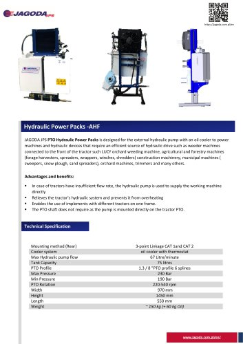 PTO Hydraulic power pack