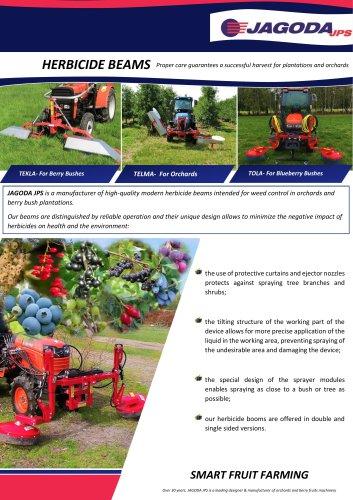 TOLA herbicide beam sprayer for blueberries