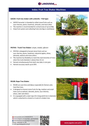 trunk Tree shaker PESTKA