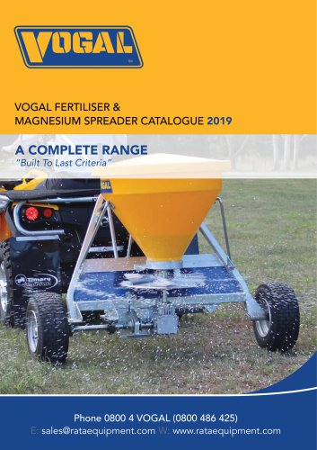 Vogal Fertilizer Spreader Catalogue
