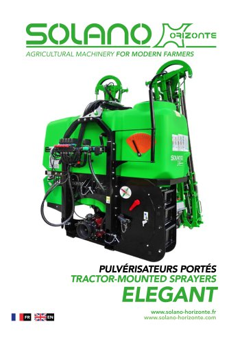 ELEGANT tractor-mounted sprayers