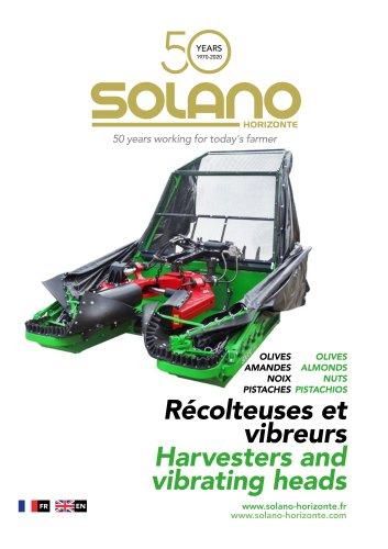 Olive, almond and dry fruit harvester