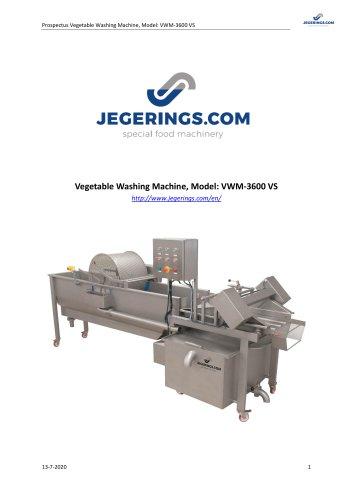 VWM-3600VS Vegetable Washing Machine