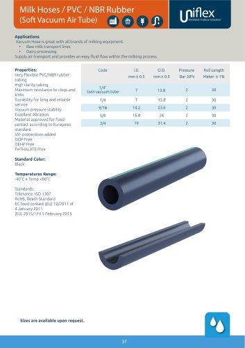 Milk Hoses / PVC / NBR Rubber